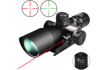 CVLIFE 2 5 10x40e Red Green Illuminated Scope